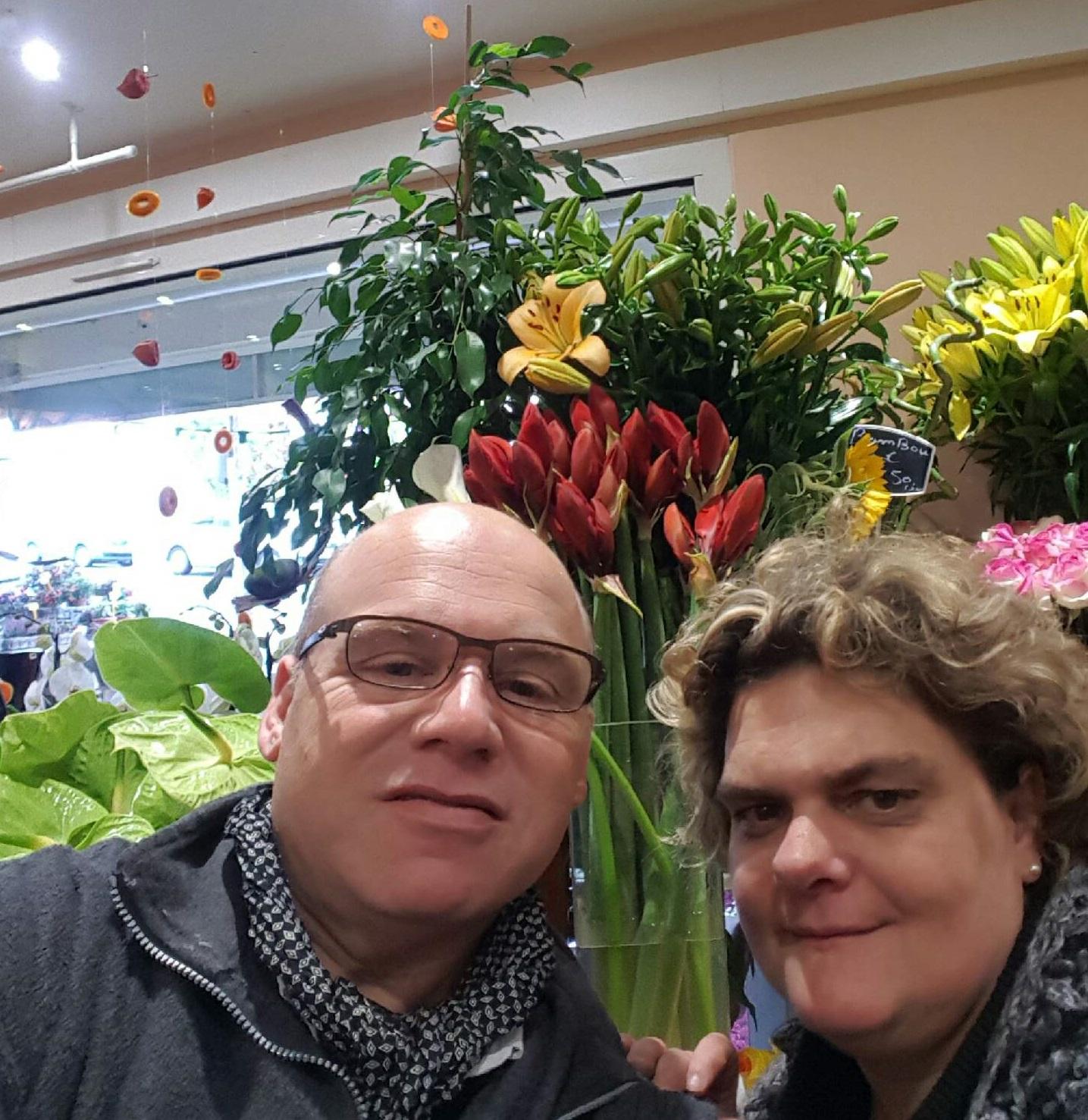 Jean michel pour au jardin de c cilia fleuriste esbly for Au jardin des fleurs