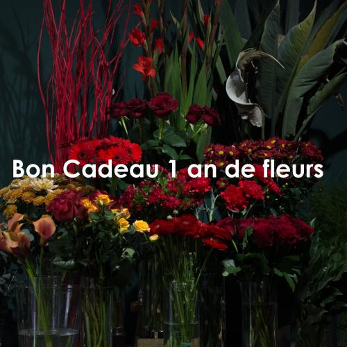 """Bon Cadeau """"Une Année de Fleurs"""""""